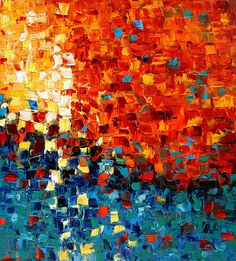 Mosaic Sunset (by Artistic Chaos), superb, i love using the mosaic technique. Backgrounds Wallpapers, Mosaic Art, Monet, Love Art, Painting Inspiration, Amazing Art, Awesome, Modern Art, Artwork