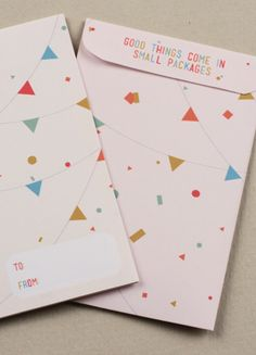 Bunting Gift Card Envelopes  ▾▿▾▿▾▿▾▿▾▿▾▿▾▿▾▿▾▿▾