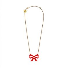 Tatty Devine Red Bow necklace.  £30