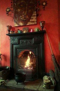 lovely warm fireplace