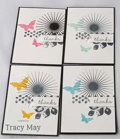 stampin up uk independent demonstrator Tracy May kinda eclectic thank you card making ideas