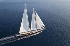 Featured in the James Bond film Skyfall, the Regina Sailing Yacht is over 180 feet long and 30 feet wide, with room for up to 12 passengers spread across 6 staterooms