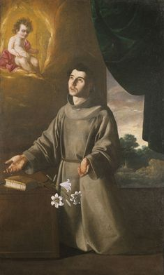 The Vision of St. Anthony of Padua, ca. 1630; Francisco de Zurbar�n (Spanish, 1598-1664); Oil on canvas, 71 x 44-1/2 inches; MSU purchase, funded by the MSU Development Fund; Motor Wheel  Corp.; Michigan National Bank; J.W. Knapp Co.; Gladys Olds Anderson; Mr. and Mrs. James F. Anderton; Mr. and Mrs. Harold F. Gross; Mr. and Mrs. Robert C. Lindell; Mr. and Mrs. Howard Stoddard; Mr. and Mrs. Clarence S. Roe, 59.29