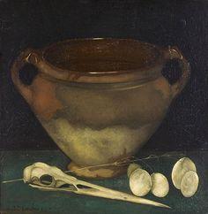 Pot with Heron Skull -  Jan Mankes (1915)