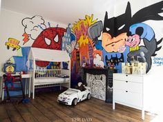 Where little superheroes rest their sleepy heads - Stokke Home - Superhero Nursery Kids Room - All dads are superheroes by Selwyn Senatori for the-dad.com