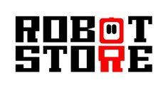 Logo Robot Store. An online store wich sells kitts and parts for robotics. Because of the target audience,mainly nerds and geeks (sorry for stereotyping), the store owner and I have chosen for an eighties styled logo.