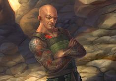 Mirumoto Shikei, the Laughing Dragon, was a Dragon Clan Champion, son of Mirumoto Mareshi and Mirumoto Kei. He was a Tattooed Monk with Naga bloodline, devoted to Niten as a kensai duelist. In 1172 during the Destroyer War the Dragon Clan Champion Mirumoto Kei sequestered her at Jousai Tengai to have her child, and her son was born in a vault deep inside the fortress. The Army of Fire harassed the area, and Mirumoto Kenzo bought her enough time to recover and for reinforcements to arrive.
