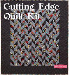 Cutting Edge Quilt by Brigitte Heitland Quilt Modern, Modern Quilt Patterns, Jellyroll Quilts, Scrappy Quilts, Strip Quilts, Patch Quilt, Braid Quilt, Half Square Triangle Quilts, Beginner Quilt Patterns