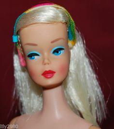 Vintage 1966 Mod Platinum Blonde Color Magic Barbie RARE