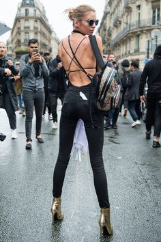 Couture A/W 2016 Street Style: Stella Maxwell http://sodafirm.com/