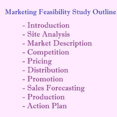 Feasibility study structure project management pinterest market feasibility outline wajeb Gallery