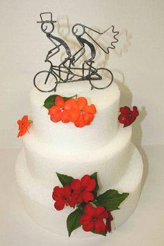 Personalized Tandem Bike Wedding Cake Topper 45 00 Via Etsy Pinterest Bikes And
