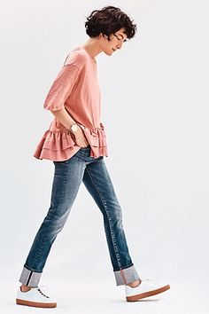 Pilcro Parallel Mid-Rise Jeans #anthropologie