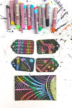 Learn how to make your own scratch art paper using one simple material: oil pastels.