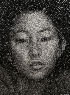 Thread portraits by Kumi Yamashita - incredible skill