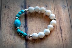 Turquoise Faceted Turquoise Tibetan Silver  by Cheshujewelry, $22.00