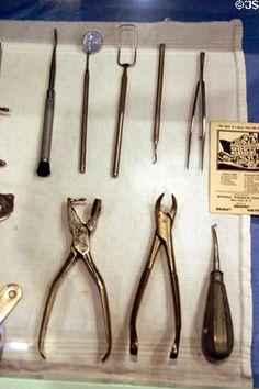 World War I era dental instruments used until 1980 at Savannah History Museum. Savannah, GA. #dentist