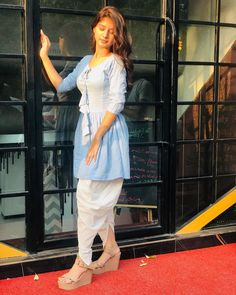 New dress – candid-safeguards Girls Fashion Clothes, Girl Fashion, Cute Small Girl, Casual Indian Fashion, Indian Wedding Gowns, Stylish Photo Pose, Fancy Dress Design, Kurti Designs Party Wear, Indian Attire