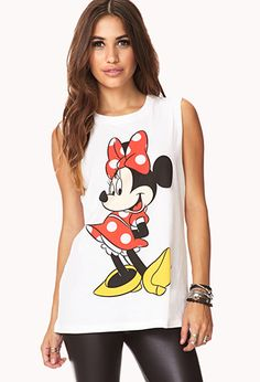 Minnie Mouse Muscle Tee | FOREVER21 - $13.80