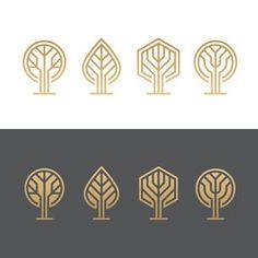 Abstract tree logos
