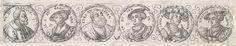 Fries met zes busten in lauwerkranzen, Virgilius Solis (I), 1524 - 1562