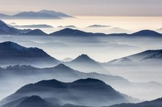 Mountains In The Haze | by Aerial Photography
