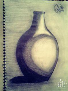 an old jar .. sketch pencil and sketch book