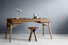 'Tuki' desk from the Tuki Collection by Melbourne furniture designer George Harper from Tide Design. Design Furniture, Table Furniture, Luxury Furniture, Furniture Decor, Furniture Removal, Design Desk, Timber Furniture, Modular Furniture, Refurbished Furniture