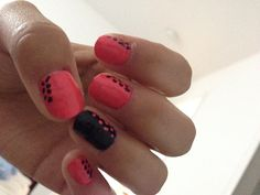 Pink and black nails