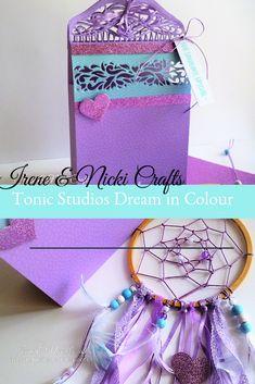 Irene and Nicki Create Glitter Cards, Make A Gift, Friend Birthday, Craft Kits, Gift Bags, Irene, Bag Making, Dream Catcher, To My Daughter