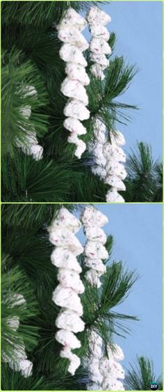 Crochet Icicle Ornaments Free Pattern - Crochet Christmas Ornament Free Patterns