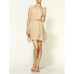 Hive & Honey Easy Embroidered Gauze Mini Day Dress ($22) ❤ liked on Polyvore