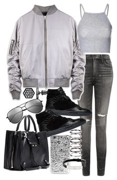 """""""Untitled #19303"""" by florencia95 ❤ liked on Polyvore featuring Citizens of Humanity, Balenciaga, Glamorous, Marc by Marc Jacobs, Yves Saint Laurent, M.N.G, Simply Vera and Cartier"""