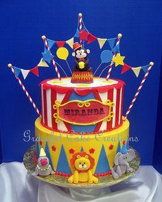 Circus Themed Birthday Cake | Grace Tari | Flickr