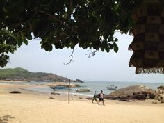 View from where i was sitting for 2 days, no network therefore no phonecalls, Just Sitting but wandering all the time. Namaste cafe, Om Beach, Gokarna