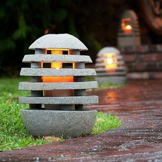 Stone Shade Garden Lantern is part of Shade garden Decor Stone Shade Garden Lanterns Each piece is handcarved from natural lava stone and is considered a oneofakind piece, as no two lanterns are exa - Japanese Garden Lanterns, Small Japanese Garden, Japanese Garden Design, Japanese Garden Lighting, Backyard Lighting, Lanterns Decor, Garden Structures, Garden Stones, Shade Garden