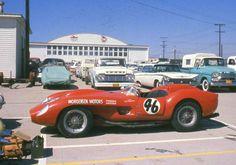"Dick Morgensen -- Ferrari 250TR 'Testa Rossa"" Morgensen finished 2nd to fellow Arizonan Jim Connor in the September 3-4, 1960 main event at Santa Barbara."