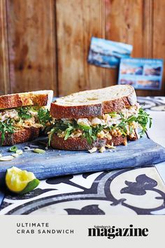 A Cornish classic, this delicious crab sandwich is a brilliant easy lunch idea, with a mayo, mustard and Tabasco sauce on sourdough bread. Get the Sainsbury's magazine recipe Brioche Loaf, Crab Sandwich, Carlsbad Cravings, Good Food, Yummy Food, Cook Up A Storm, Tea Sandwiches, Sainsburys, Food Trends
