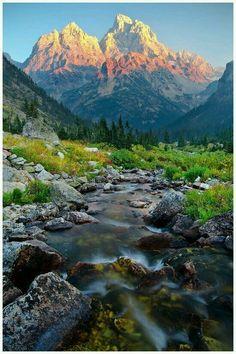 North fork cascade canyon, Grand Teton national park, Wyoming USA