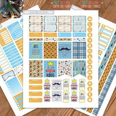 Father's Day Planner Stickers Printable Erin Condren