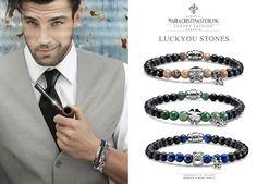 Maria Cristina Sterling gioielli moda bracciale uomo luckyou argento e pietre naturali L'arte del made in Tuscany Italy