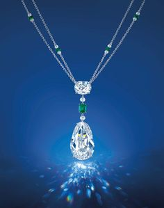The Eye of Golconda diamond necklace. The Eye of Golconda diamond is the largest Golconda diamond ever to be auctioned in Asia, with a pre-sale estimate of US$8.5-10million.