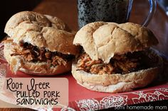 Semi Homemade Mom: Root Beer Pulled Pork Sandwiches - another amazing Crockpot dinner!!
