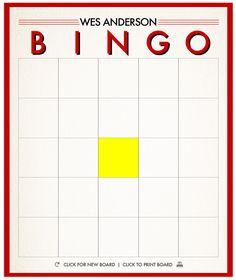 Wes Anderson Bingo: Play along with Moonrise Kingdom using our bingo-board generator.
