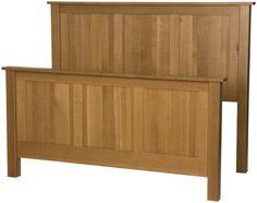 Shaker Bed Frame in Cinnamon Oak from Erik Organic