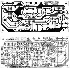 PCB layout of the cheap function-generator circuit
