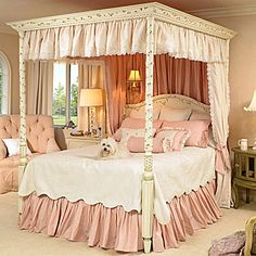 Gwendelyn Canopy Bed from PoshTots...okay, so I would like this for a guest room as well.