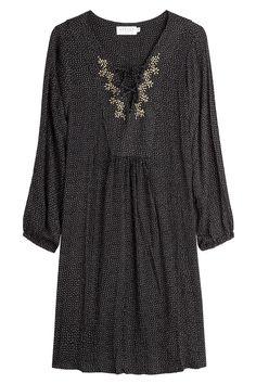 Velvet - Embroidered Dress