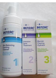 BENZAC ACNE SOLUTIONS 3 PC SET GALDERMA PROACTIVE ALTERNATIVE FREE SHIPPING USA #BENZAC