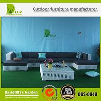 muebles de mimbre al aire libre sofá de jardín sección DGS-0040
